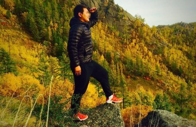 hiking in Bogd Khan Mountain